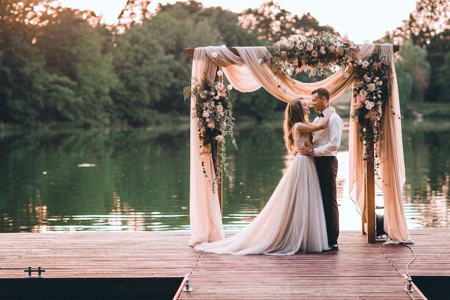 arco de boda romantica