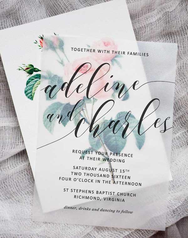 invitaciones florales diy