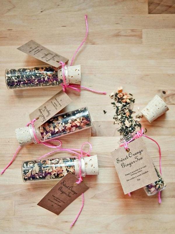 té    favores para una boda de otoño