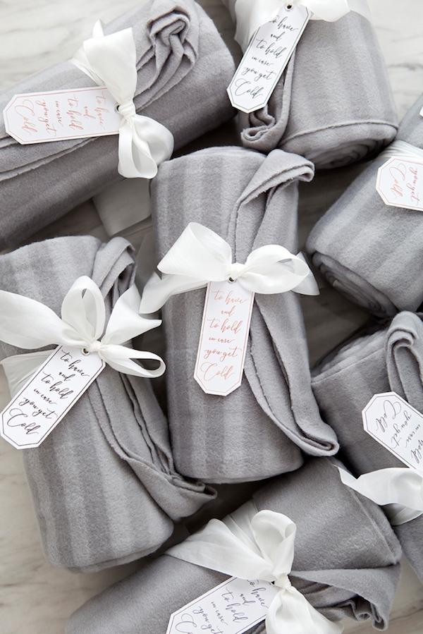 mantas para boda de invierno
