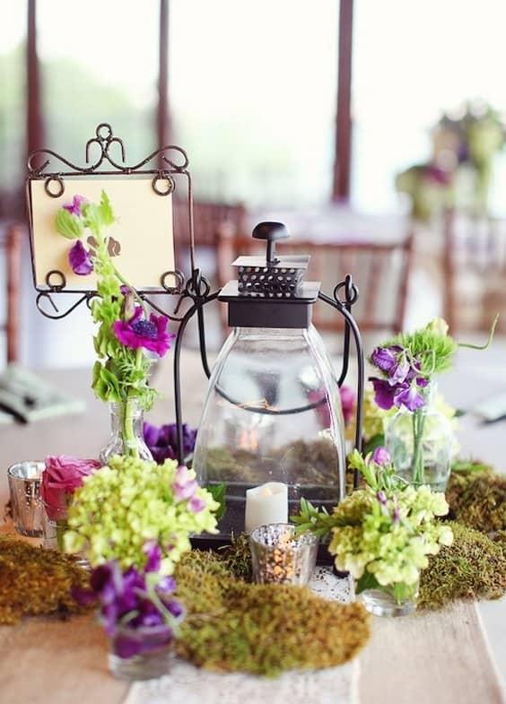 rústico-musgo-boda-centro de mesa-min