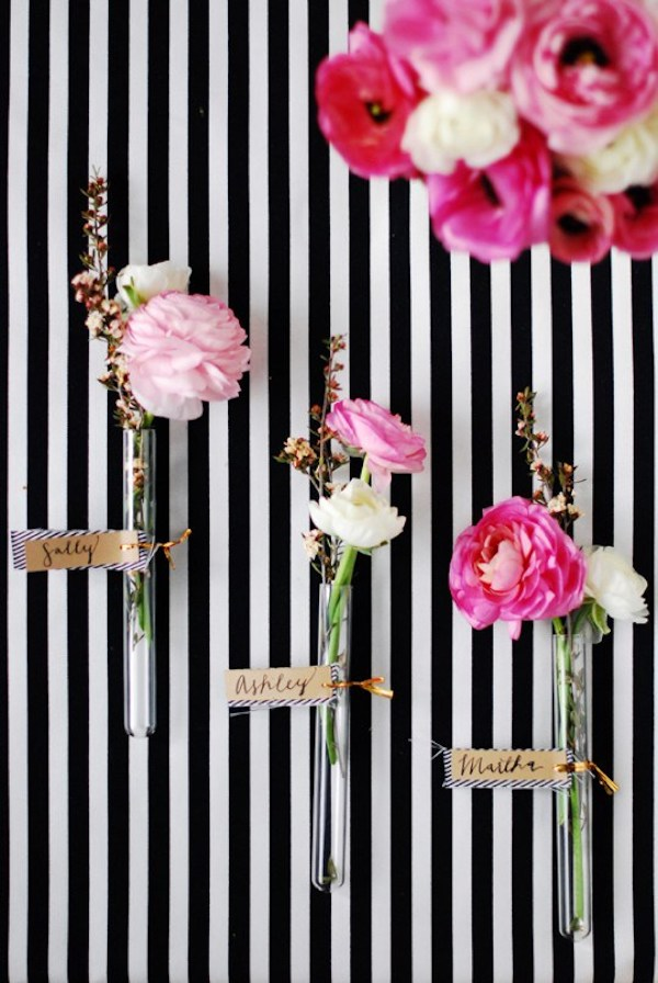 Tarjeta de lugar floral de bricolaje