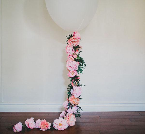 Globo floral de bricolaje