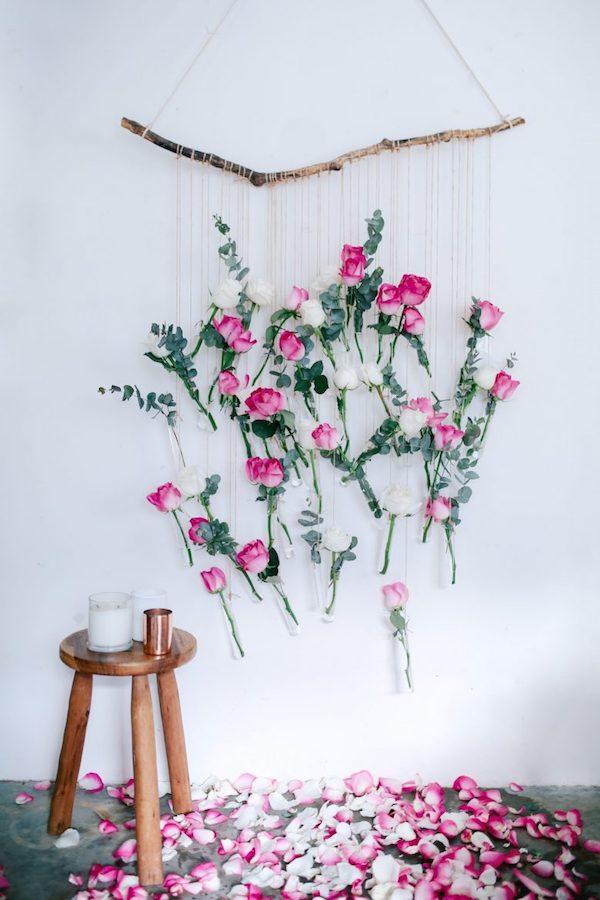 Telón de fondo floral de bricolaje