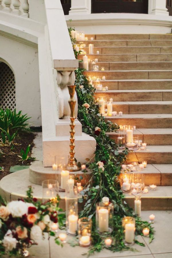 boda de invierno con velas