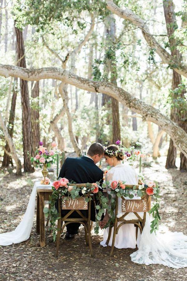 boda romántica mesa de novios