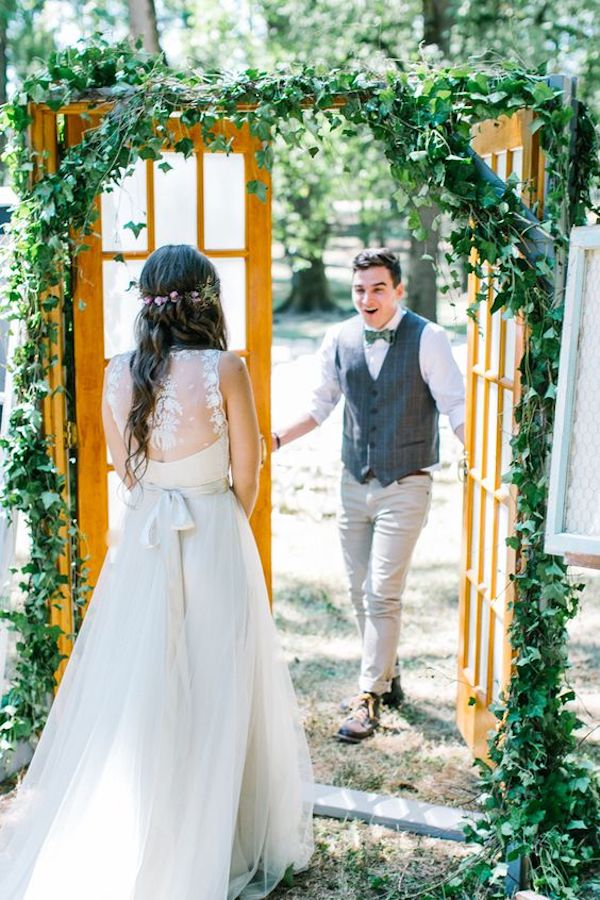 primer vistazo a la boda