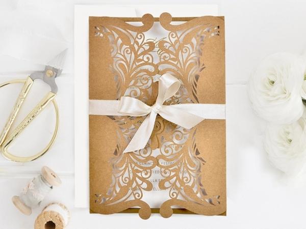 invitaciones de boda cortadas con láser