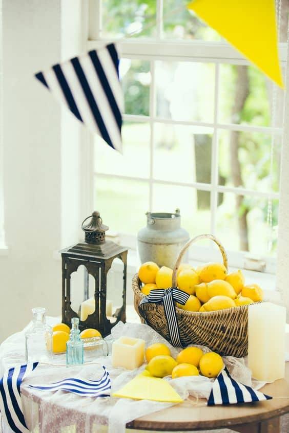 decoraciones con limones