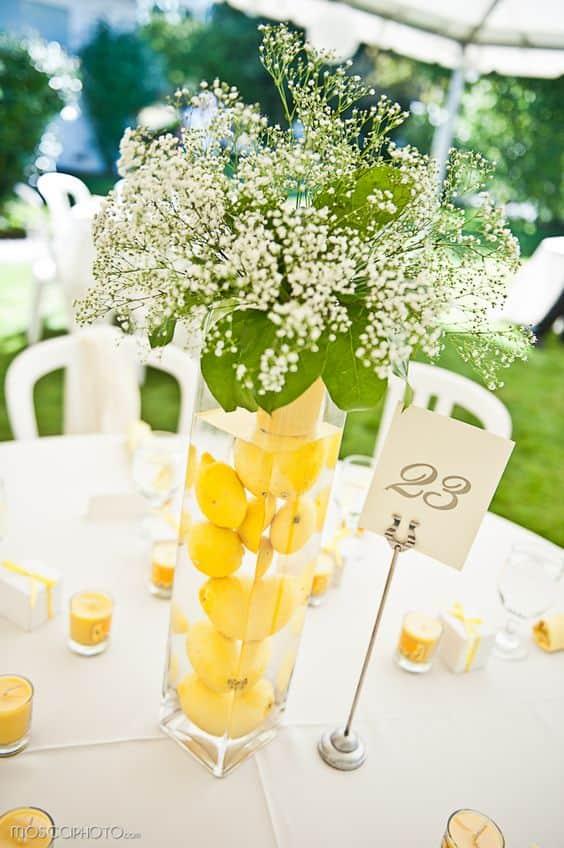 limones de centro de mesa