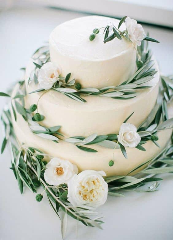 torta desnuda de la boda