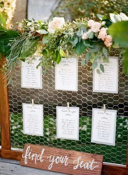 cuadro de boda