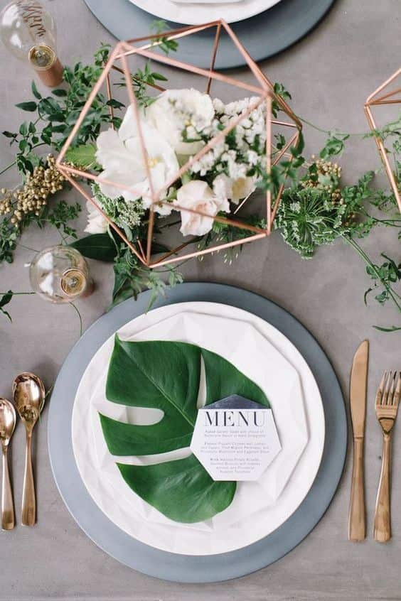 menú de boda verde