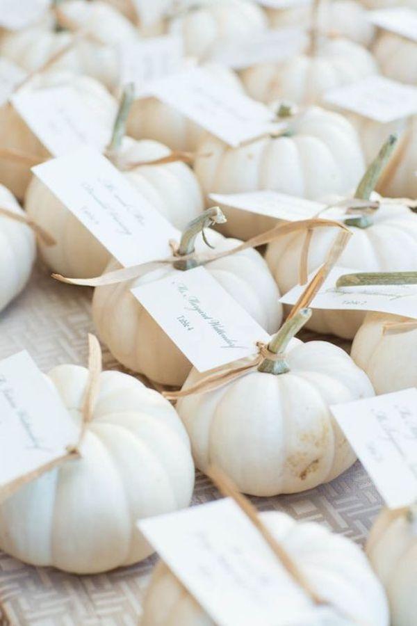 calabazas    favores para una boda de otoño
