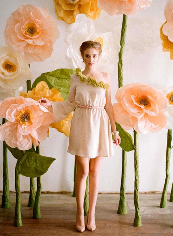 Fondo para fotomatón con flores gigantes.