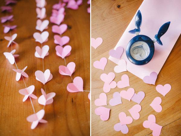 Guirnalda de corazones de bricolaje