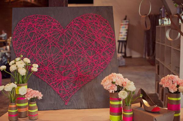 arte de cadena de corazón diy