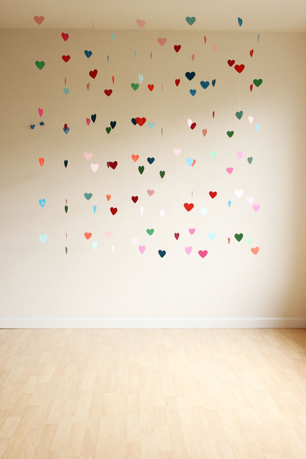 telón de fondo de corazones de bricolaje