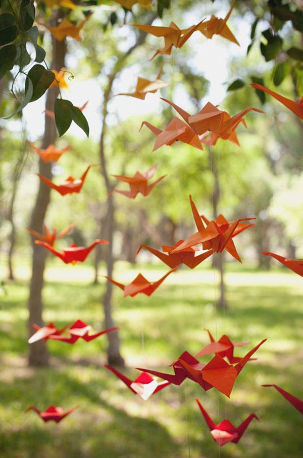 Guirnalda de origami de bricolaje