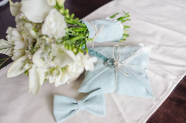 Almohada de anillo de bodas de bricolaje