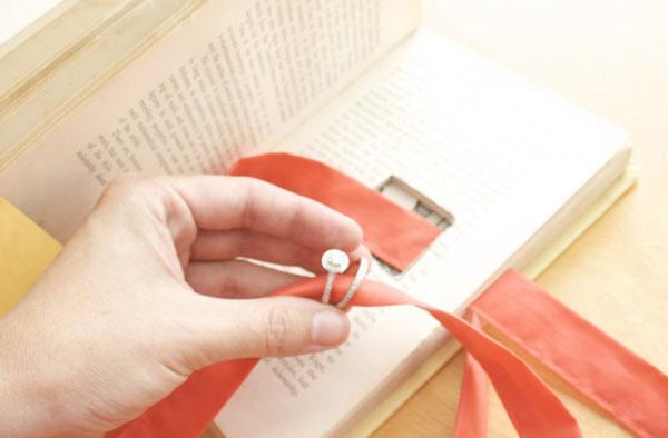Libro de anillos de boda de bricolaje