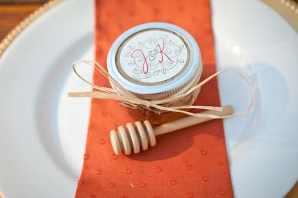favores de la boda de bricolaje miel