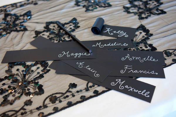 Tarjeta de lugar de boda de bricolaje