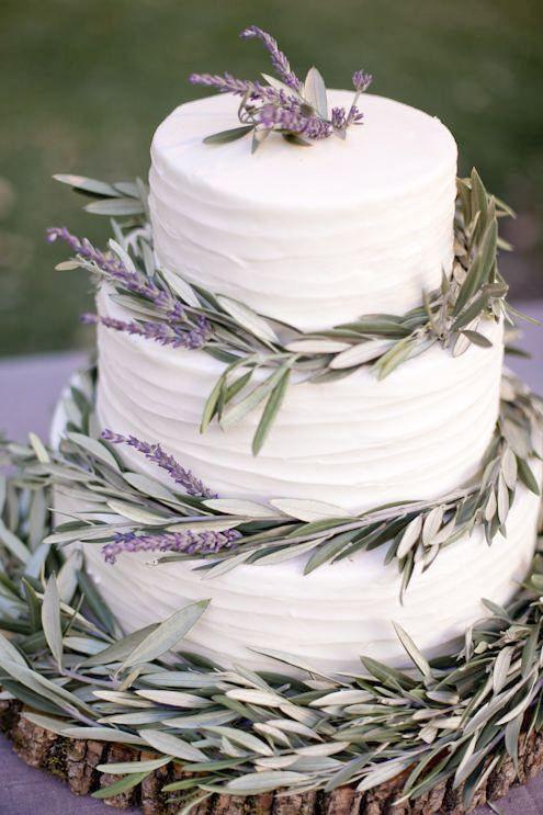 pastel de bodas de lavanda