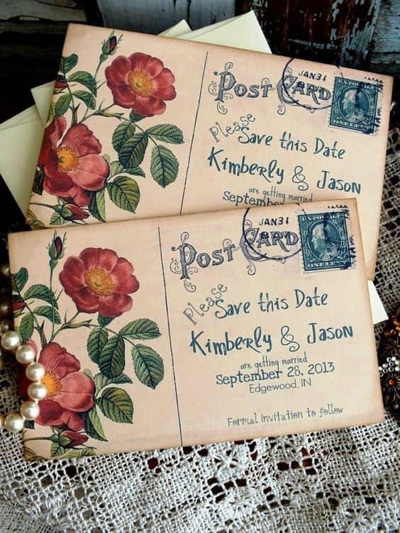 invitaciones boda vintage