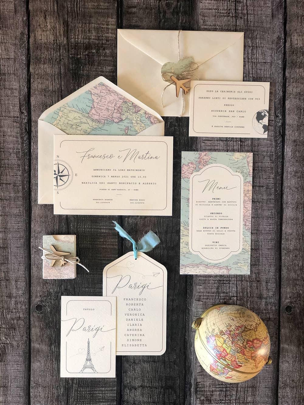 invitaciones de boda tematica viajes