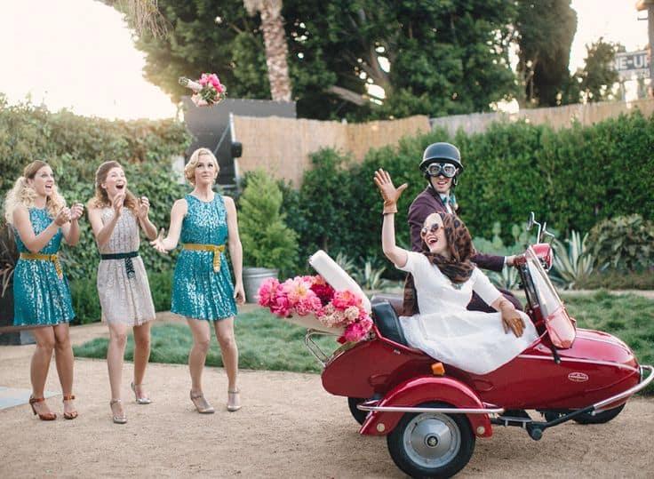 sidecar. boda temática viajes .