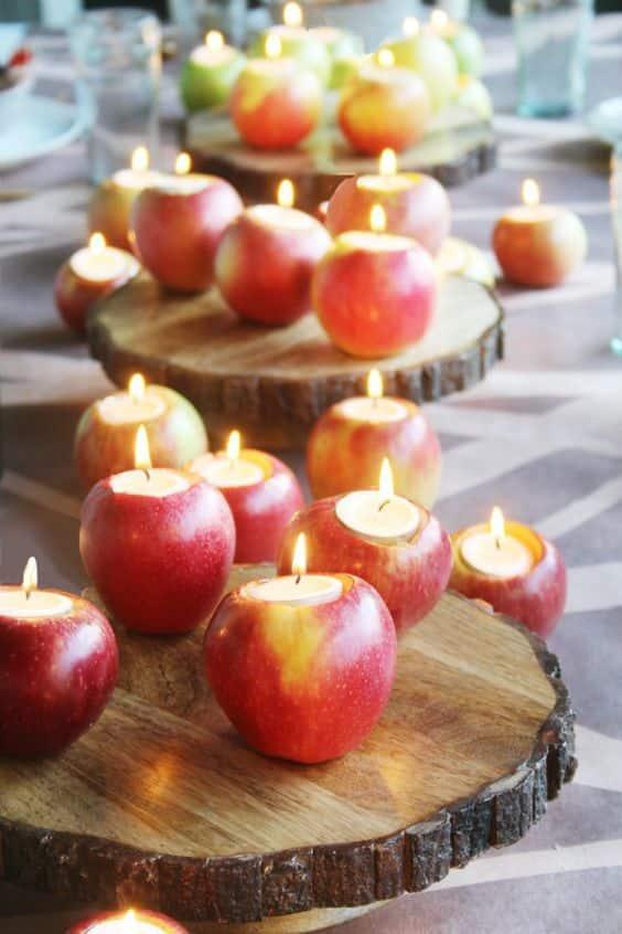 velas de manzanas