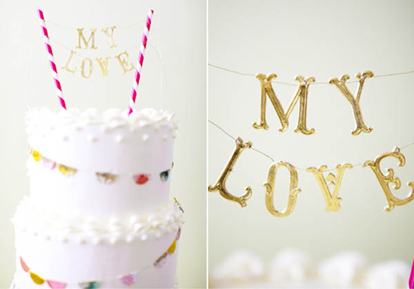 banner de adorno de torta