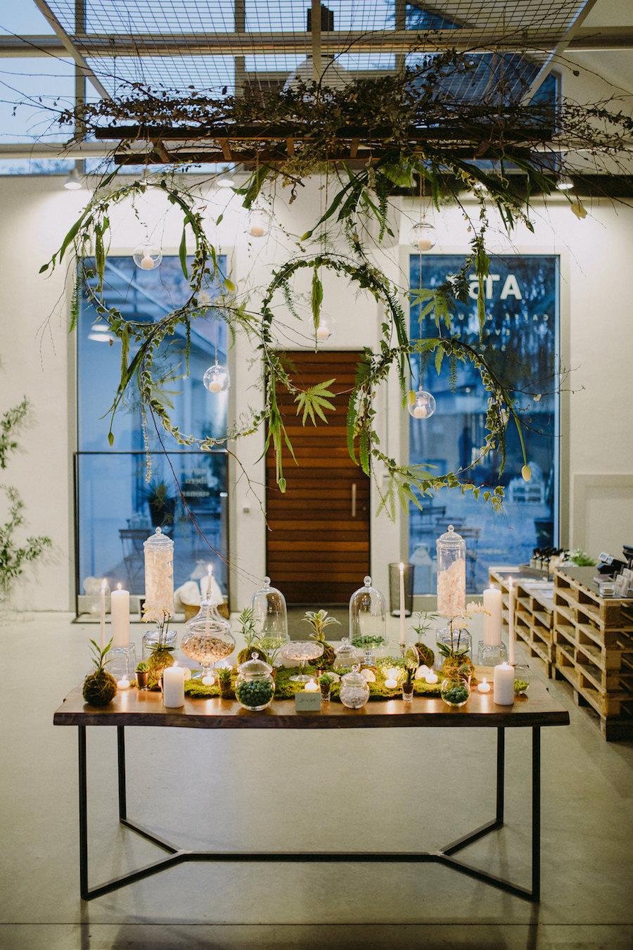 mesa dulce industrial verde