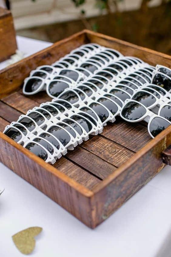 gafas de sol de boda