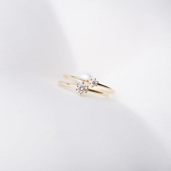 Anillo minimal de diamantes