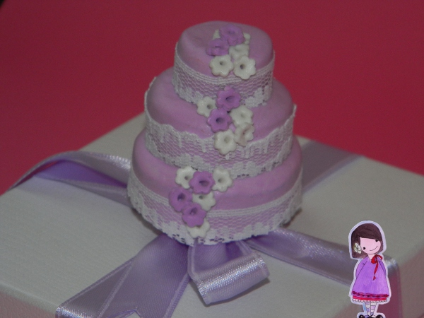 tutorial mini pastel de bodas fimo favor marcador de posición