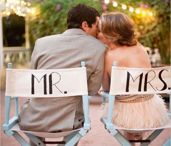 bodas temática cine. novios bodas de cine