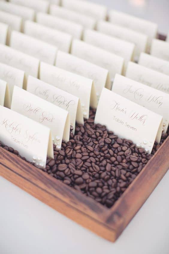 boda temática de café