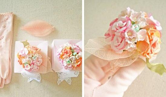 embalaje de favores de boda vintage