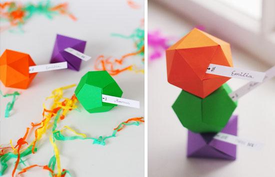 embalaje de favores de boda geométricos