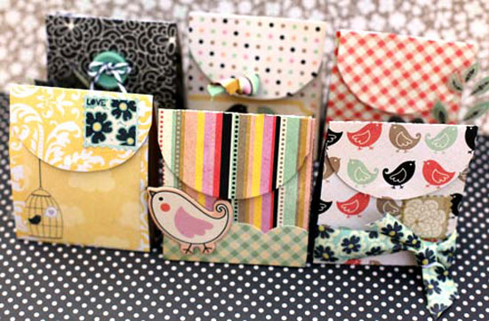 paquetes de favores de colores