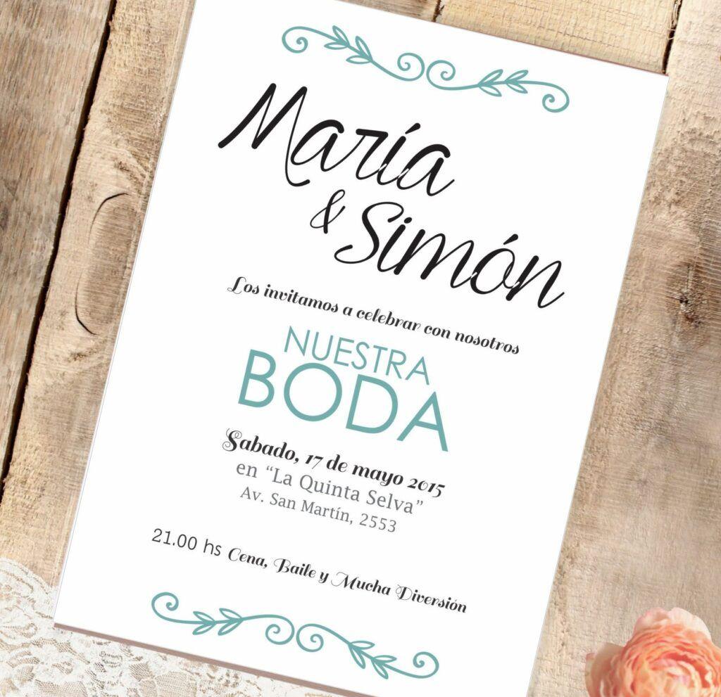 texto invitaciones de boda elegantes