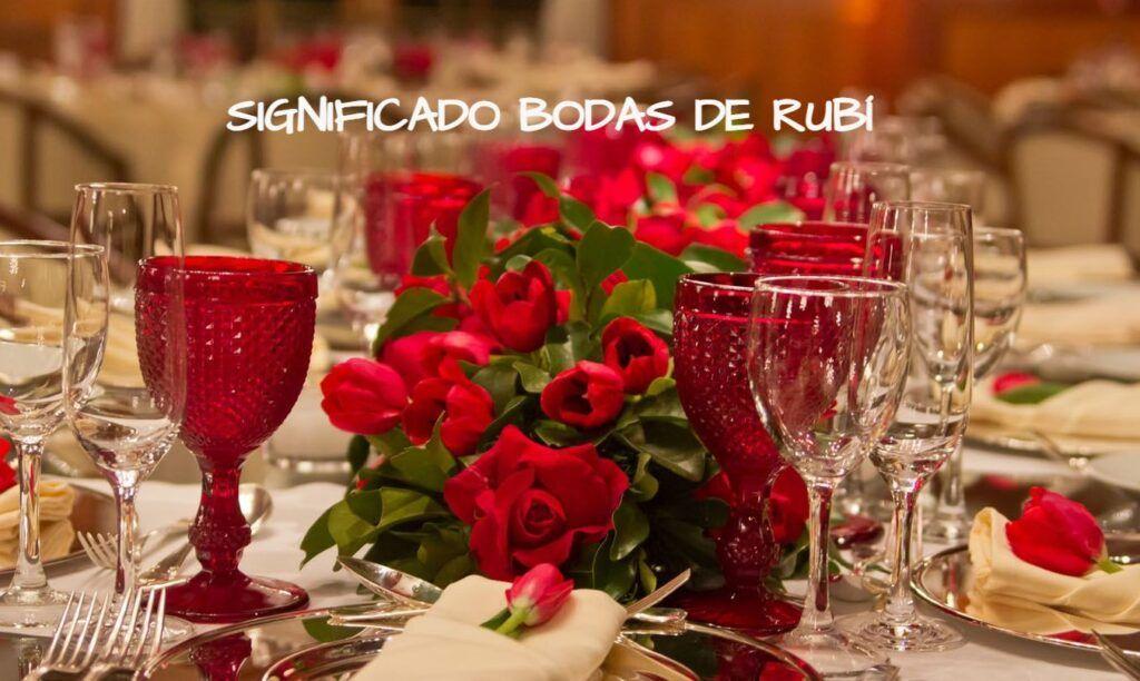 bodas de rubí significado