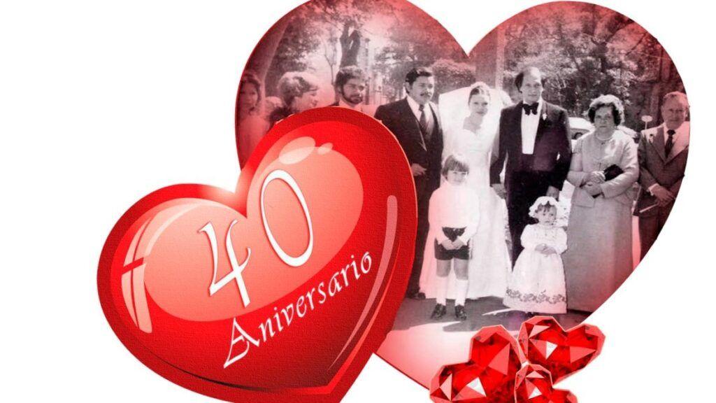 las bodas de rubi. 40 años de casados