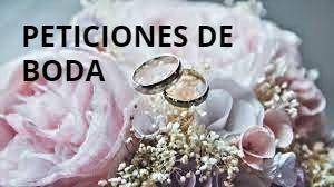 Peticiones de boda