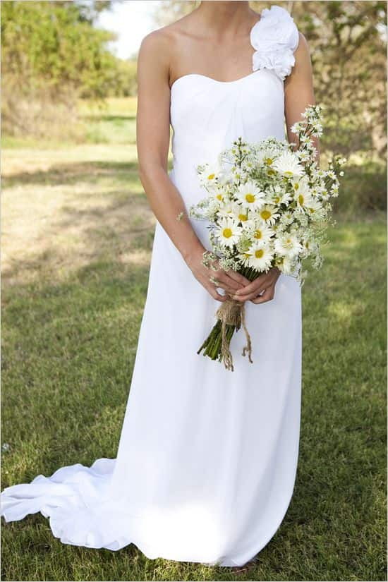boda ramo de margaritas