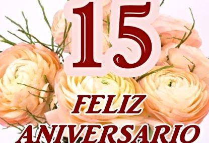 15 años de casados. aniversario