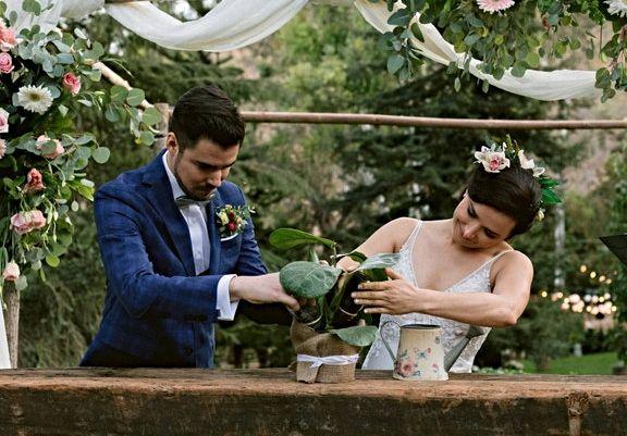 ceremonia de la plantación. rituales boda