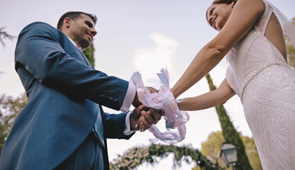 ceremonia de la unión de manos. rituales boda